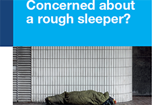 Rough sleeper leaflet
