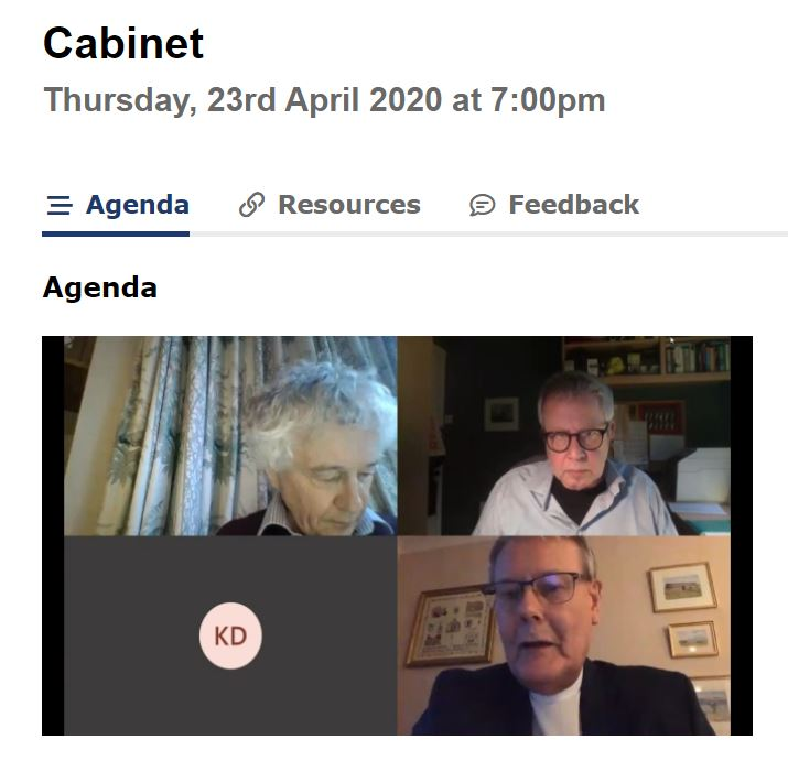Cabinet holding its first virtual meeting