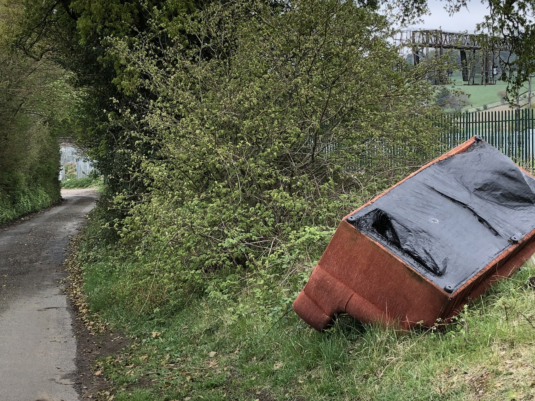 A recent flytip near Harpenden