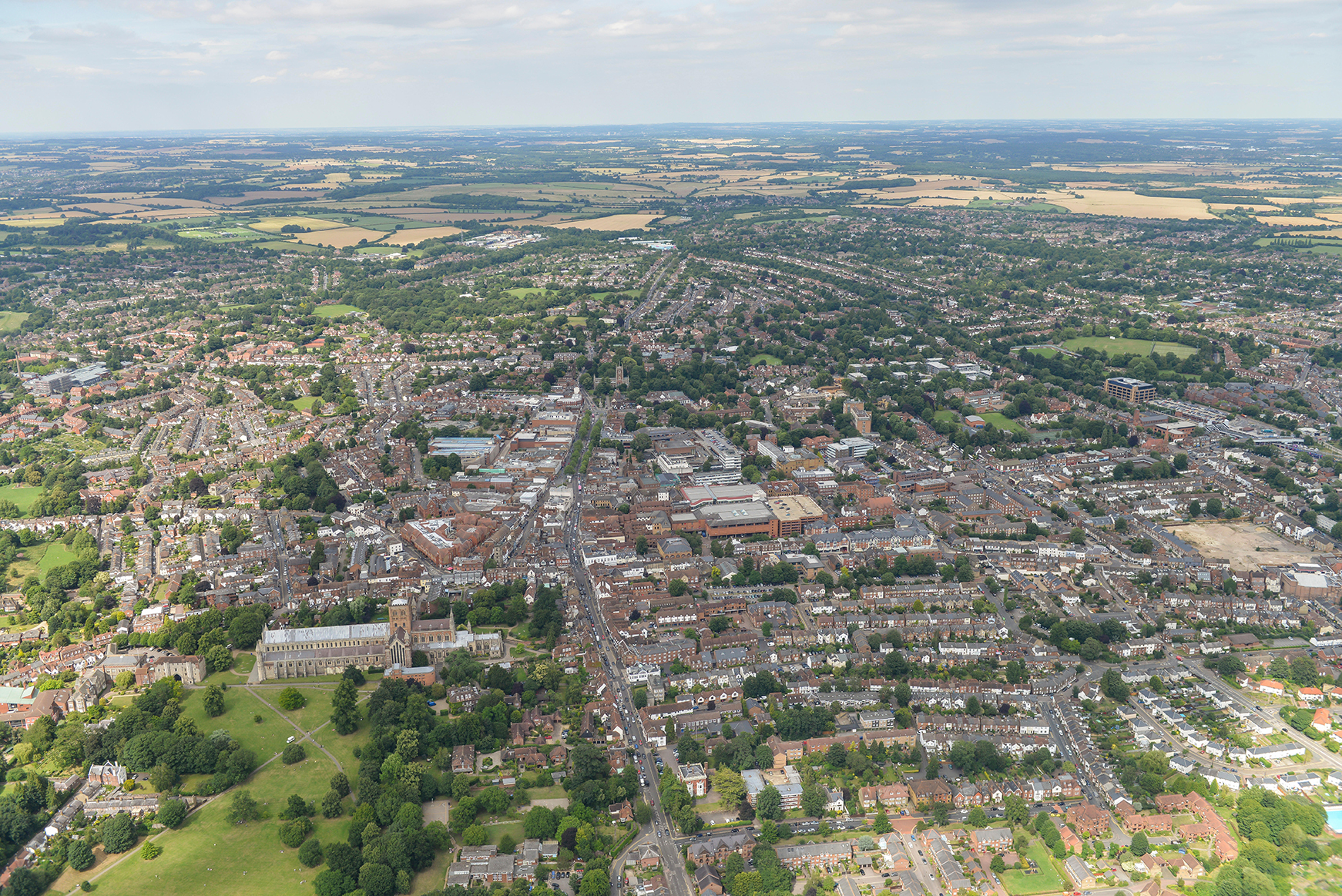 St Albans Aerial Photo