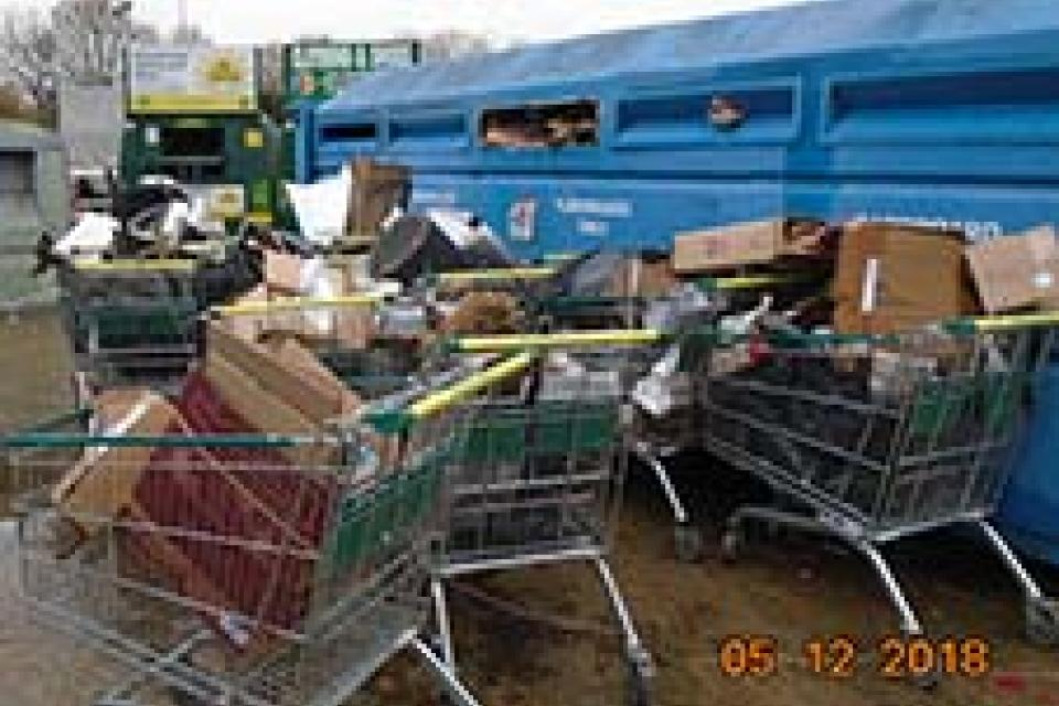 The flytip at Morrisons in December last year