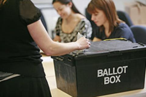 Ballot box - Reproduced with kind permission of the Electoral Commission