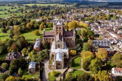 Aerial shot of St Albans